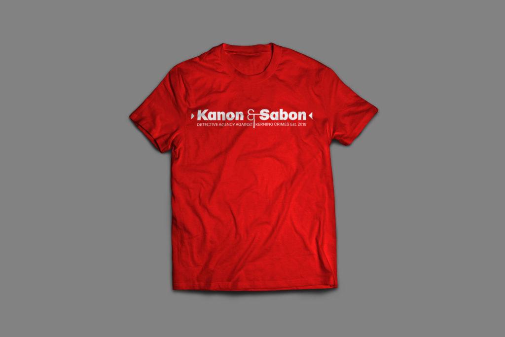 La t(ype)-shirt Kanon & Sabon