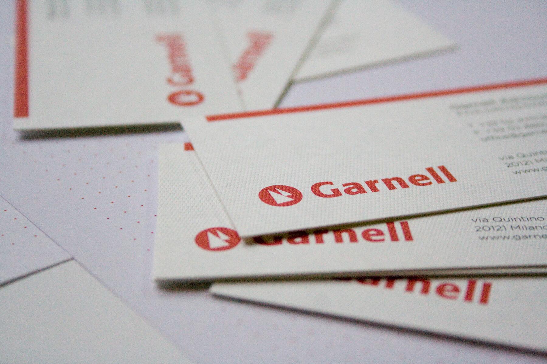 Brand identity Garnell: i biglietti da visita.