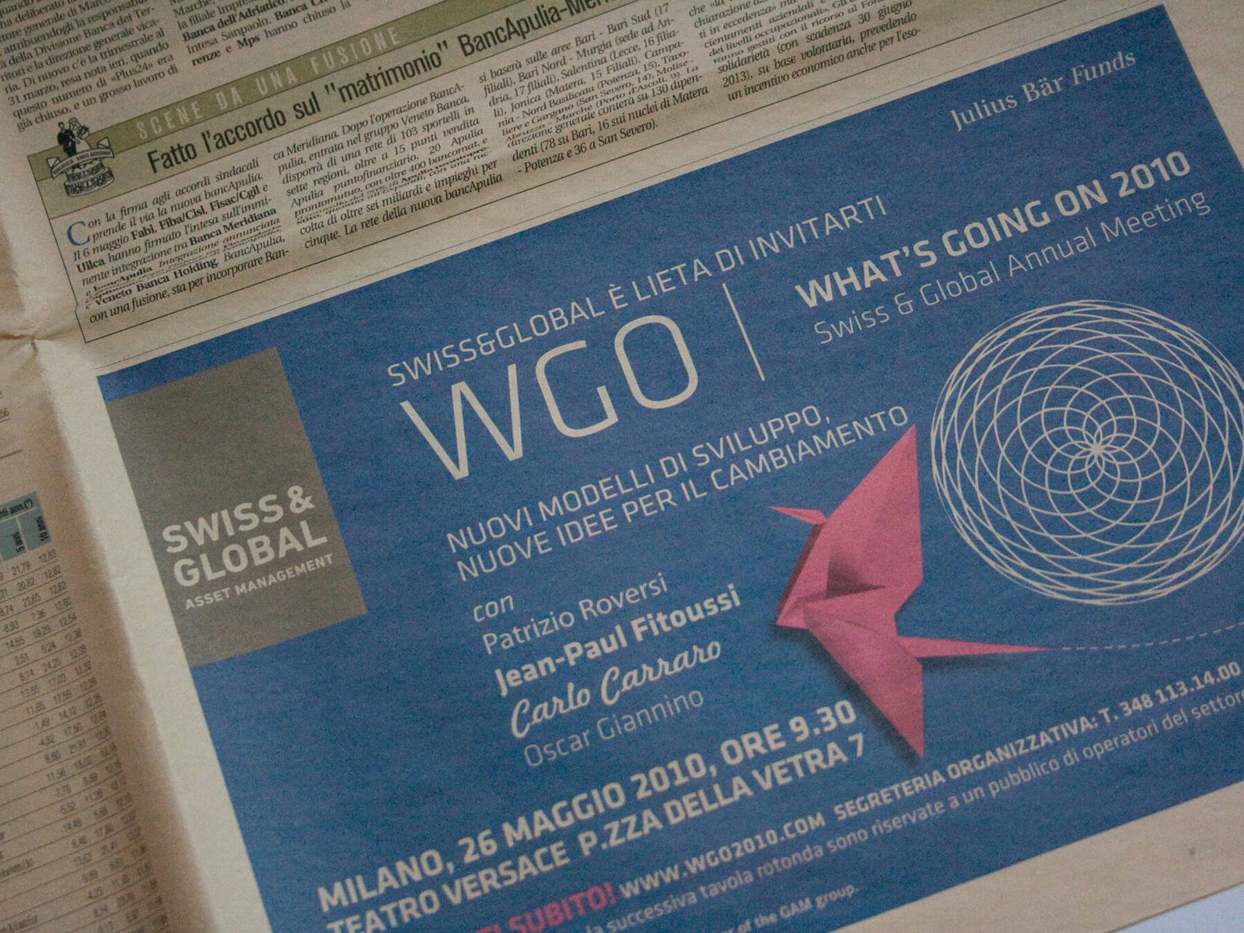 WGO What's Going On: advertising su Il Sole 24 Ore