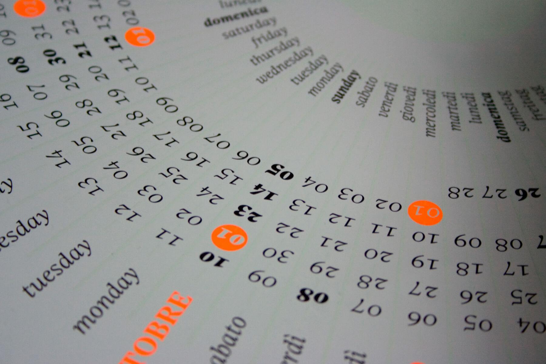 Dettaglio del calendario Solepertuttoilduemiladiciassette