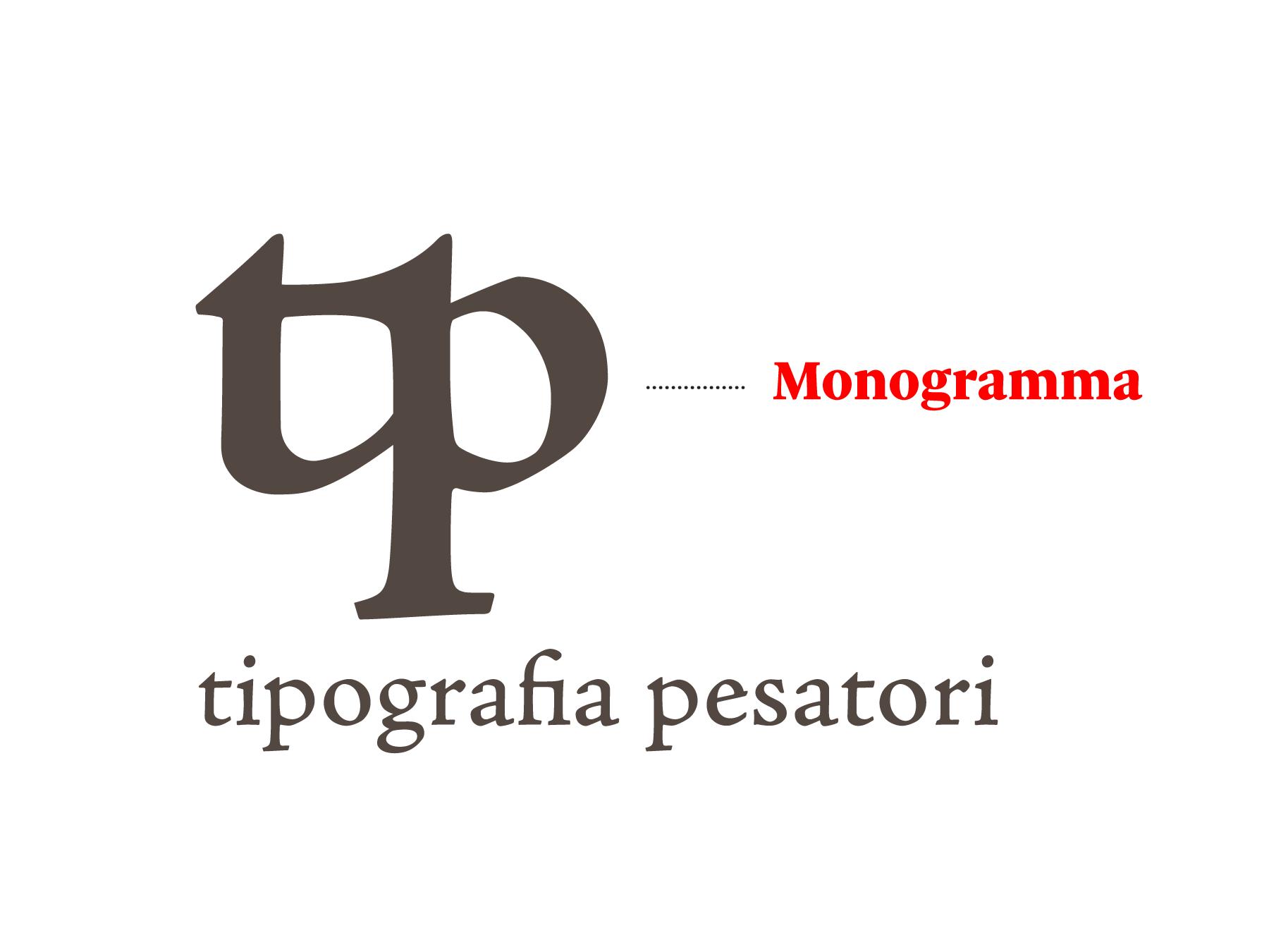 Un esempio di monogramma generato da due lettere